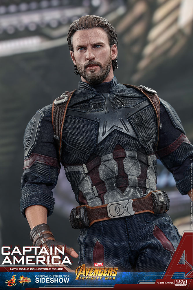 Hot Toys Captain America Sixth Scale Figure   Avengers Infinity War hot toys avengers infinity war captain america sixth scale figure