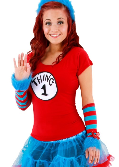 Medium Of Thing 1 Costume