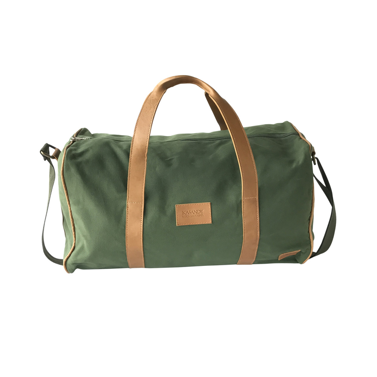 Majestic Travel Weekender Duffle Bag Olive Green Canvas Lear Large Large Duffle Bags College Large Duffle Bags Uk baby Large Duffle Bags