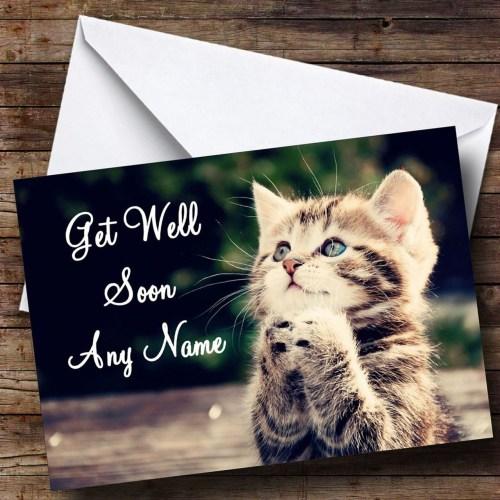 Christmas Kitten Personalised Get Well Soon Card Kitten Personalised Get Well Soon Card Card Zoo Get Well Soon Quotes Spanish Get Well Soon Quotes Kids