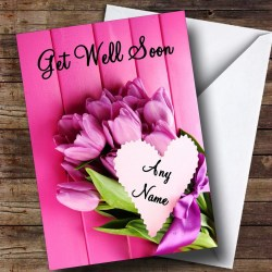 Contemporary Flowers Personalised Get Well Soon Card Card Zoo Get Well Soon Card Printable Get Well Soon Card Designs Flowers Personalised Get Well Soon Card Pink Bunch Pink Bunch