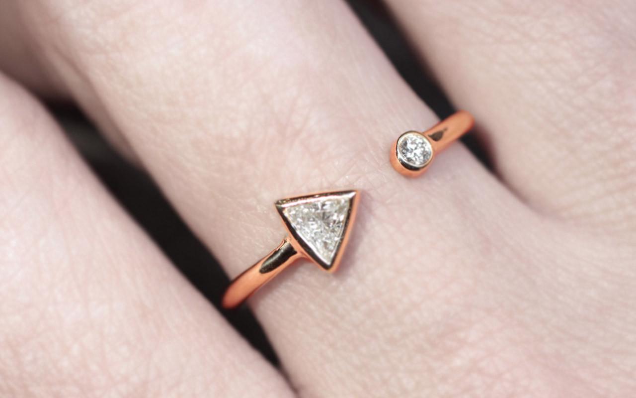 Pristine Carat Trillion Diamond Anda Diamond Trillion Open Cuff Ring 15 Carat Black Diamond Ring 15 Carat Canary Diamond Ring Yellow G Open Cuff Ring wedding rings 15 Carat Diamond Ring