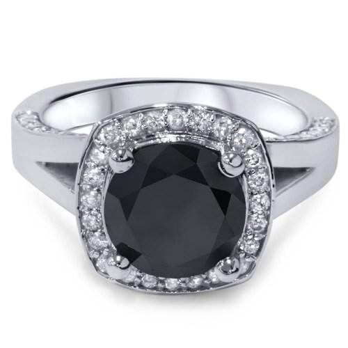 Medium Of Black Diamond Engagement Rings