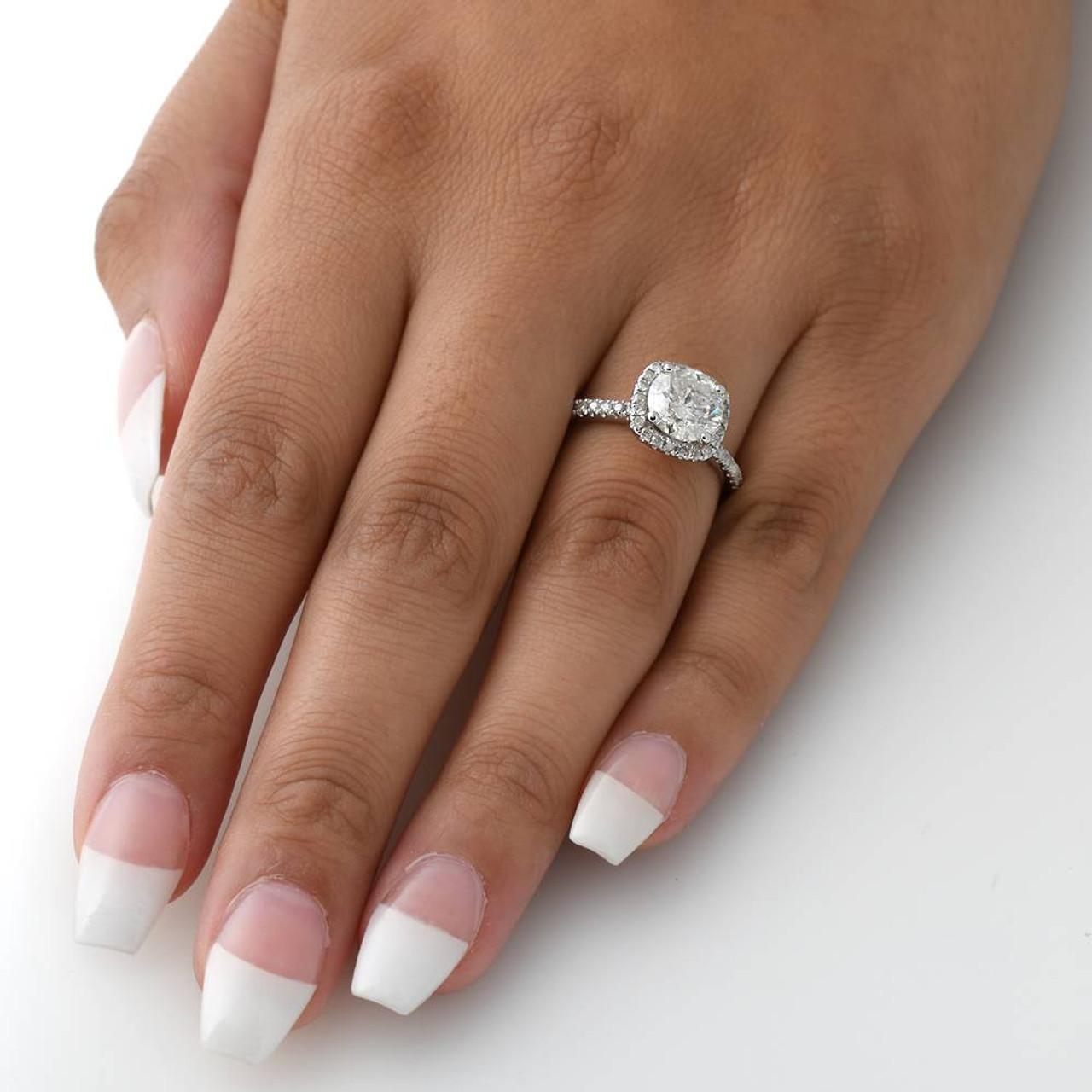 Sweet Carat Cushion Halo Diamond Engagement Ring G Cushion Halo Diamond Ring Cushion Cut Ring 2 Carat Diamond Ring Worth 2 Carat Diamond Ring Ebay wedding rings 2 Carat Diamond Ring