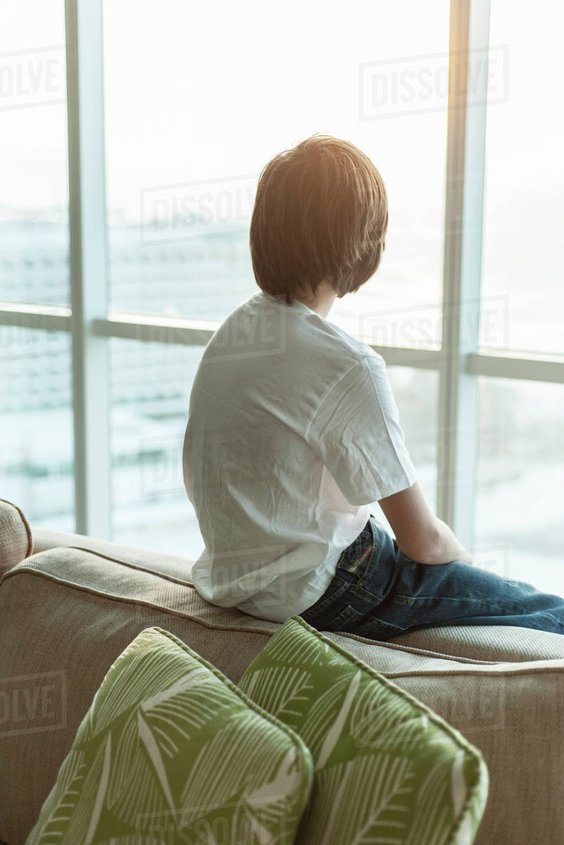 Dark Looking Out Rear View Looking Out Window Caption Looking Out Window At Night Teenage Boy Sitting On Edge Looking Out Rear View Teenage Boy Sitting On Edge bark post Looking Out Window
