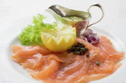 Small Of Salmon With Capers