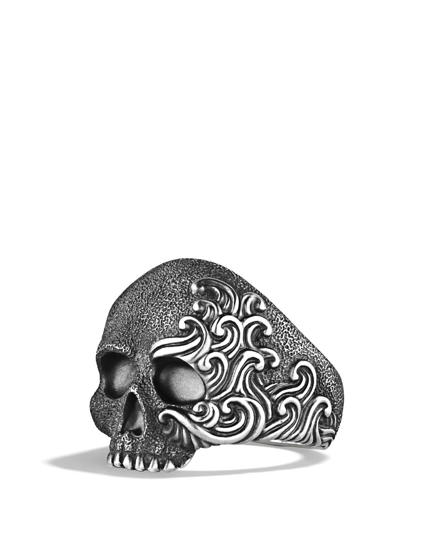 mens rings mens skull wedding rings Sterling Silver Full Jaw Skull Ring with Red Ruby eyes clear rubies