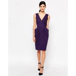Admirable Sleeves Closet Purple Cross Over Dress Pockets Size 0 Dress Pockets Pockets Product 3 904830747 Normal Dress wedding dress Dress With Pockets