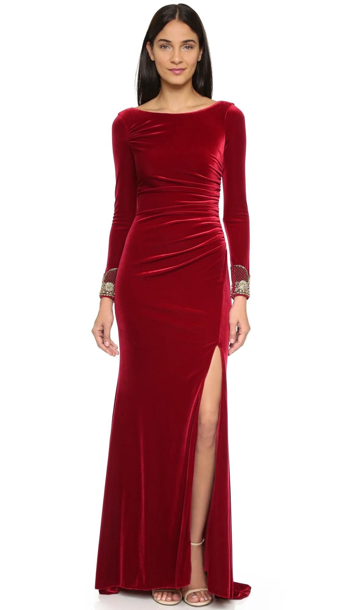 Distinctive Badgley Mischka Collection Crimson Velvet Long Sleeve Dress Crimson Product 3 234827688 Normal Long Sleeve Velvet Dress Zara Long Sleeve Velvet Dress Pinterest wedding dress Long Sleeve Velvet Dress