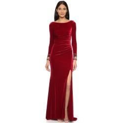 Small Crop Of Long Sleeve Velvet Dress