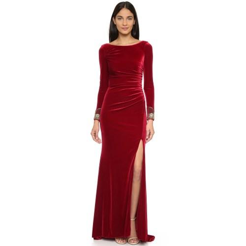 Medium Crop Of Long Sleeve Velvet Dress