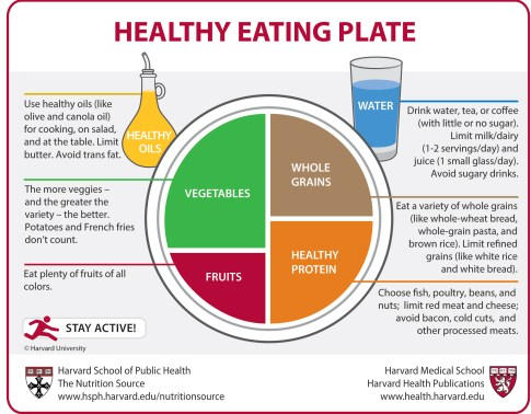 Healthy eating plate Harvard