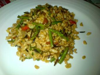 Trigo verduras soja