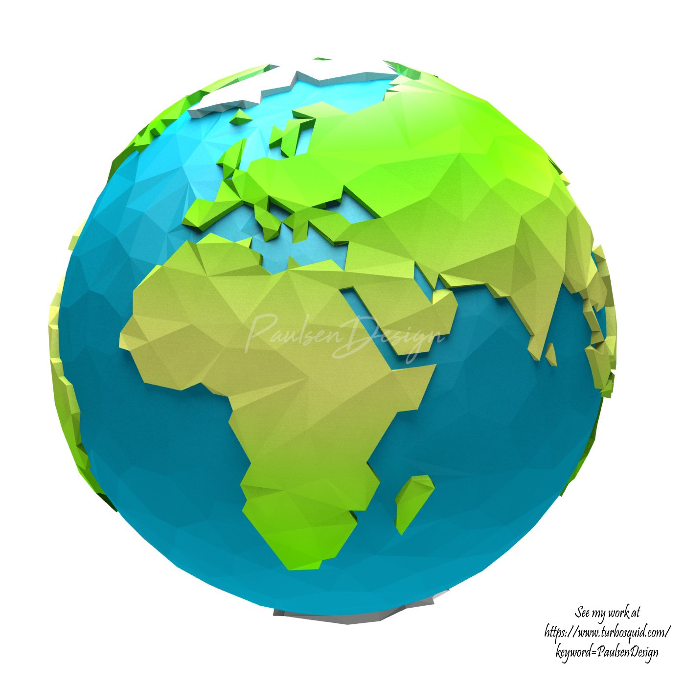 Paulsen Design   Cartoon low poly world Paulsen design paulsen design cartoon low poly world map 24