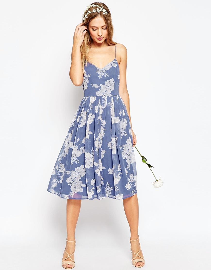 asos bridesmaids line midi wedding dress