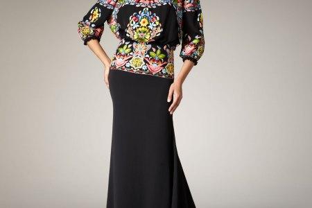 naeem khan black fiesta thread work gown product 1 2208968 231906689