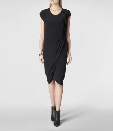 Allsaints Anson Nui Dress in Black - Lyst