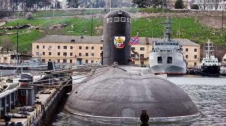 El submarino ruso Novorosíisk del proyecto 636.3, el 15 de marzo de 2018.