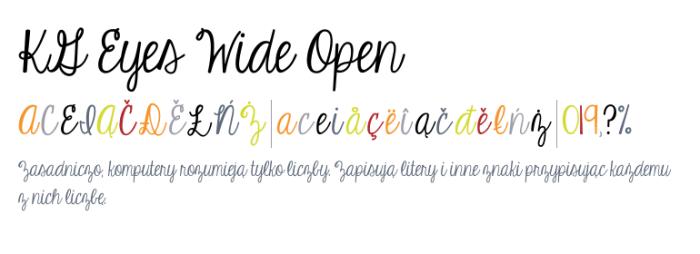 KG Eyes Wide Open Font Download