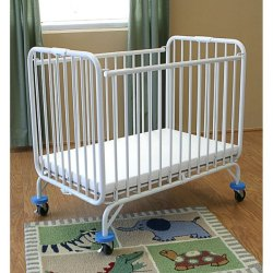 L a Baby 82 Folding Holiday Series Crib 24 X 38 With Fire