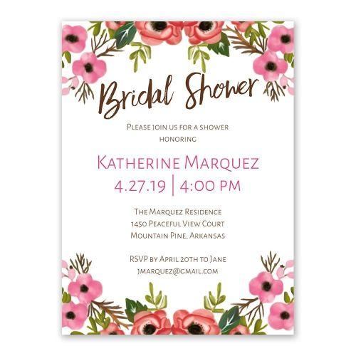 Medium Crop Of Bridal Shower Invitations