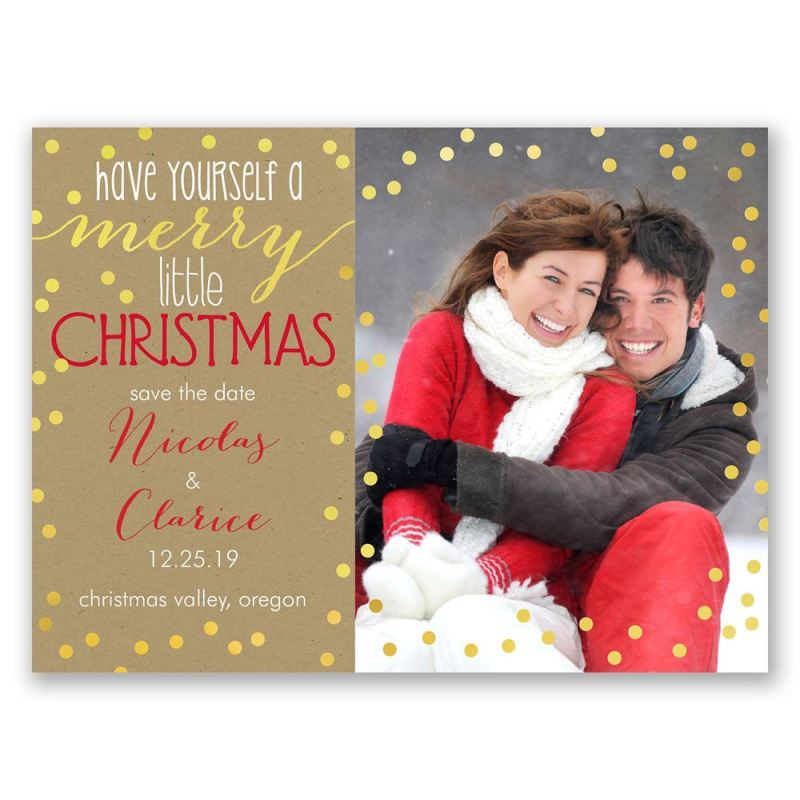 Marvelous Merry Holiday Card Save Date Merry Holiday Card Save Date ...