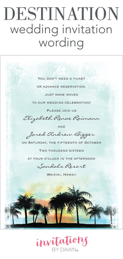 Medium Of Wedding Announcement Wording