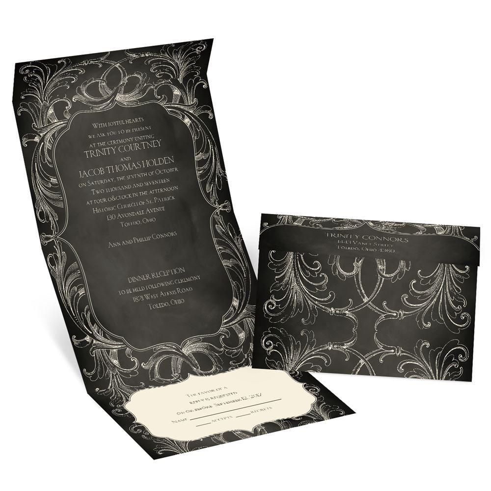 cheap wedding invitations budget wedding invitations Chalkboard Beauty Seal and Send Invitation
