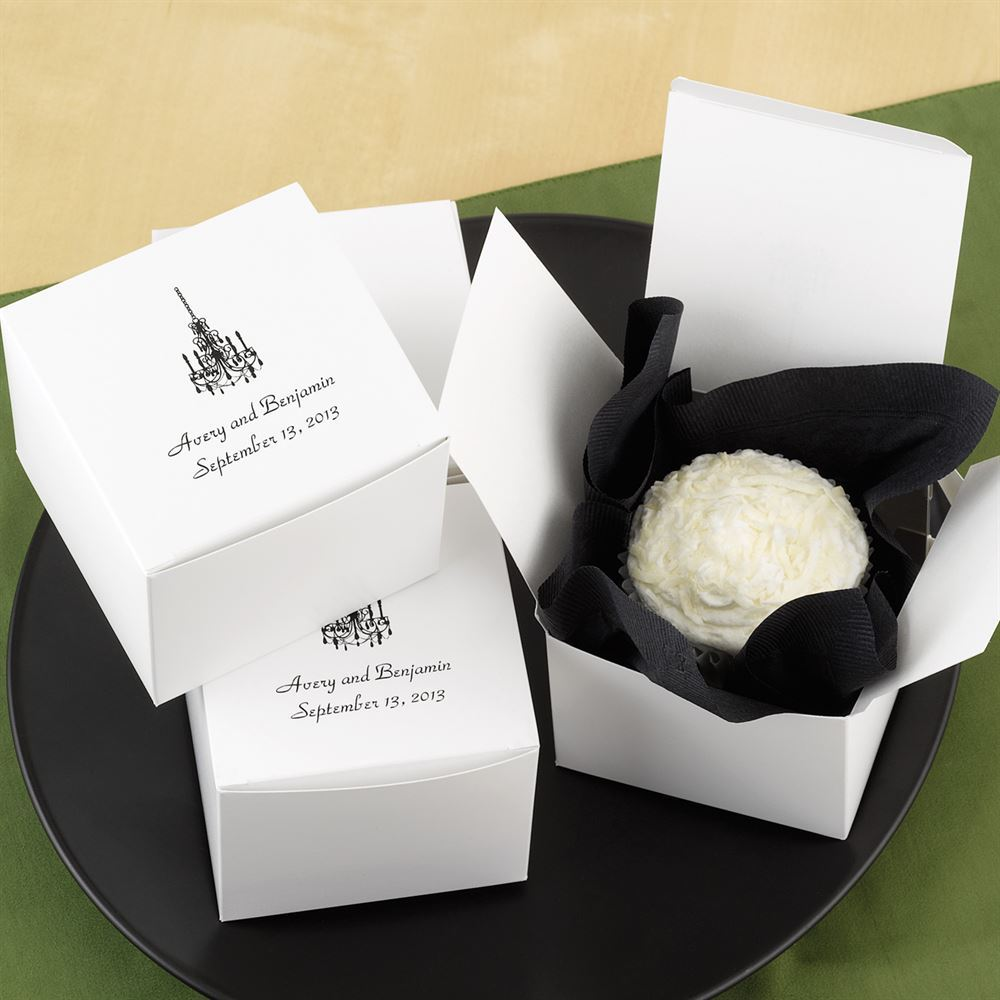 wedding favors unique wedding favors Personalized Cake Box Top Personalization