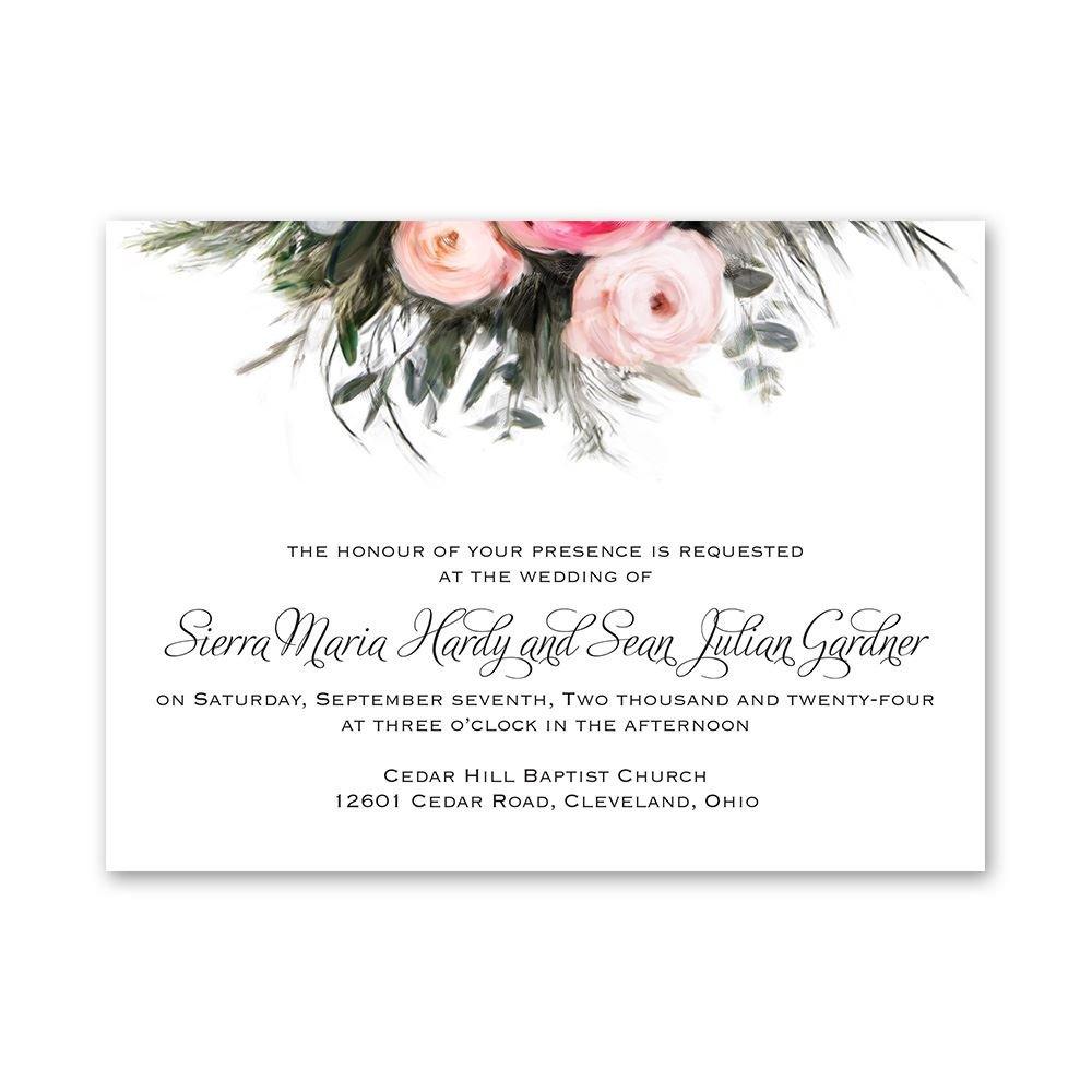 cheap wedding invitations budget wedding invitations Cheap Wedding Invitations Ethereal Garden Petite Invitation