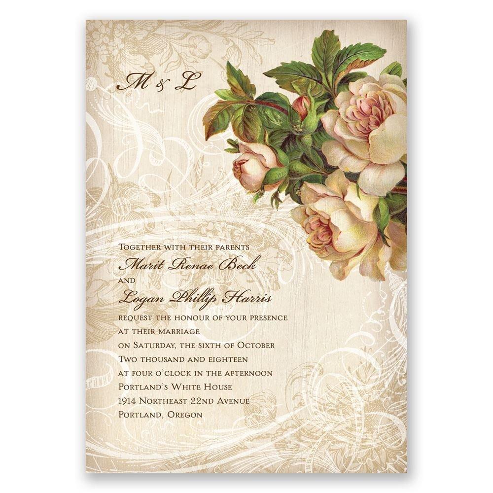 wedding invitations photo wedding invitations Boho Flowers Invitation