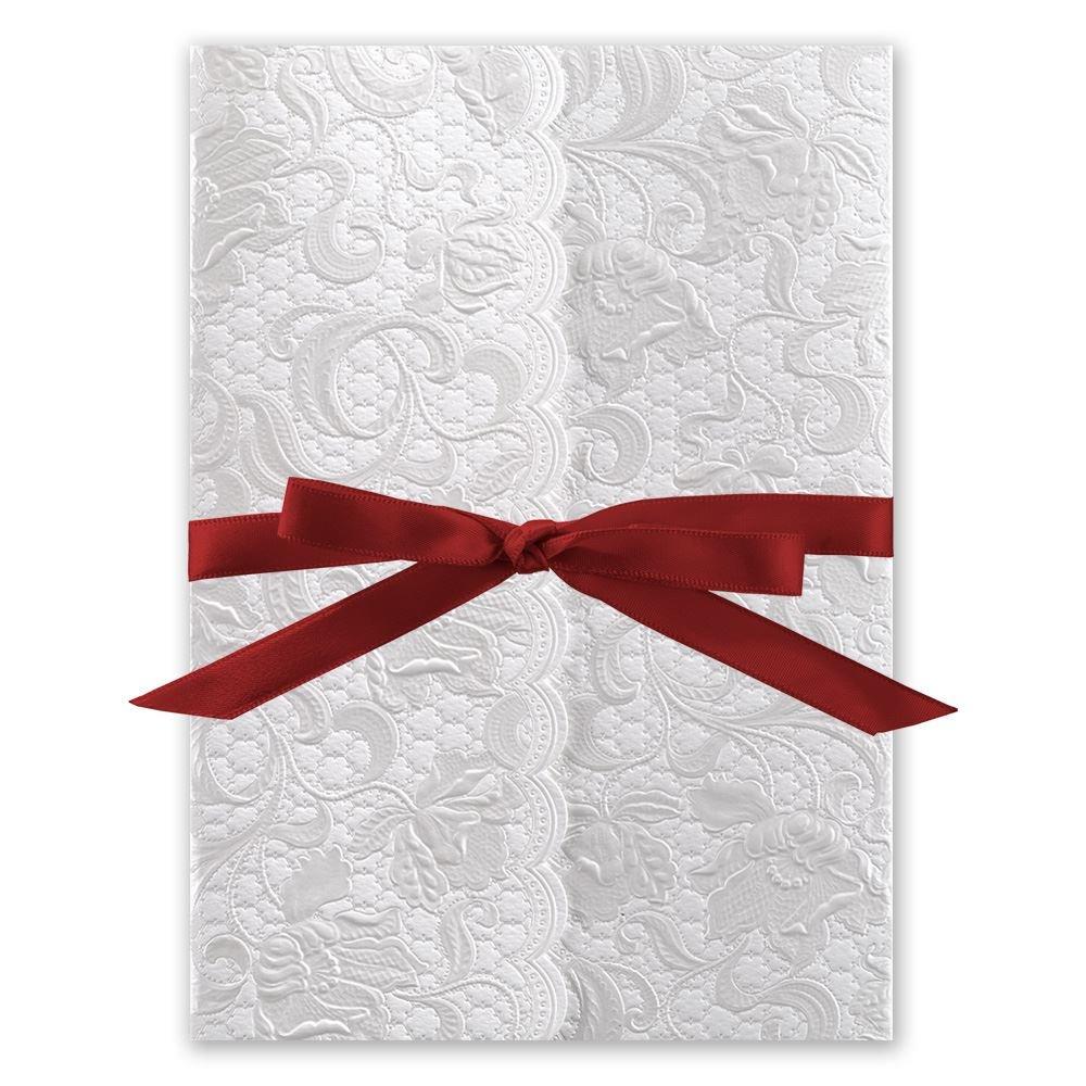 wedding invitations with ribbon wedding invitations with ribbon Wedding Invitations with Ribbon Pearl Vines Invitation