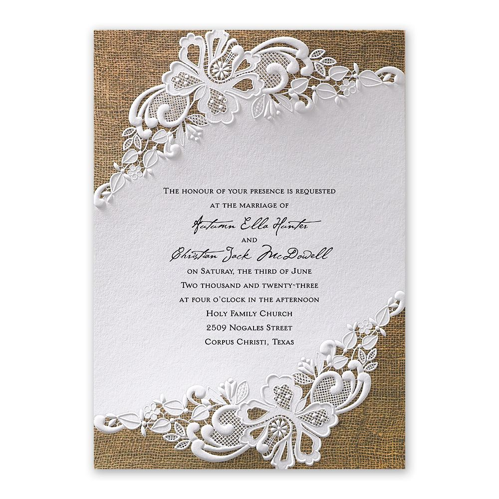 wedding invitations budget wedding invitations Lacy Dream Invitation