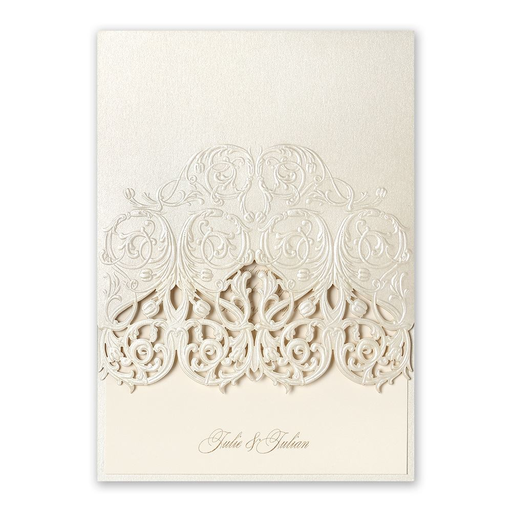 laser cut wedding invitations laser cut wedding invitations Laser Cut Wedding Invitations Luminous Filigree Laser Cut Invitation