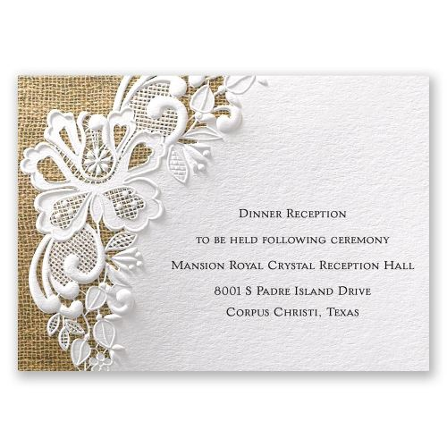 Medium Crop Of Wedding Reception Invitations