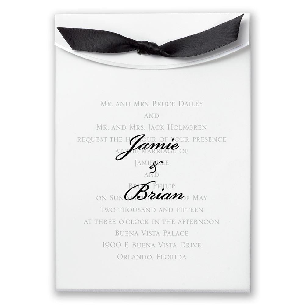 wedding invitations with ribbon wedding invitations with ribbon Wedding Invitations with Ribbon Pure Elegance Invitation