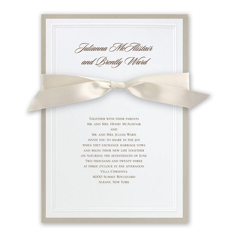 elegant wedding invitations formal wedding invitations Elegant Wedding Invitations Sophisticated Border Invitation