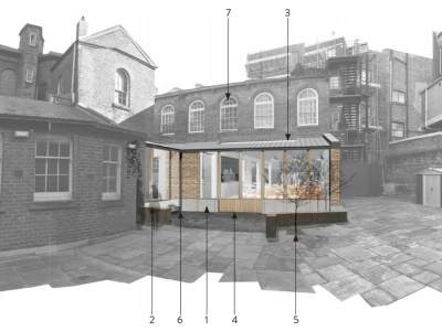 Development montage examining the proposed single storey extension