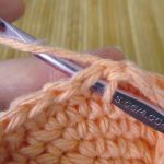 Step 4: Slip stitch into the next stitch to left of SL ST just completed