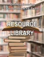 Civil Engineering Geotechnical PE Exam Resource Library