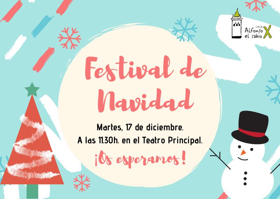 INVITACIÓN FESTIVAL DE NAVIDAD