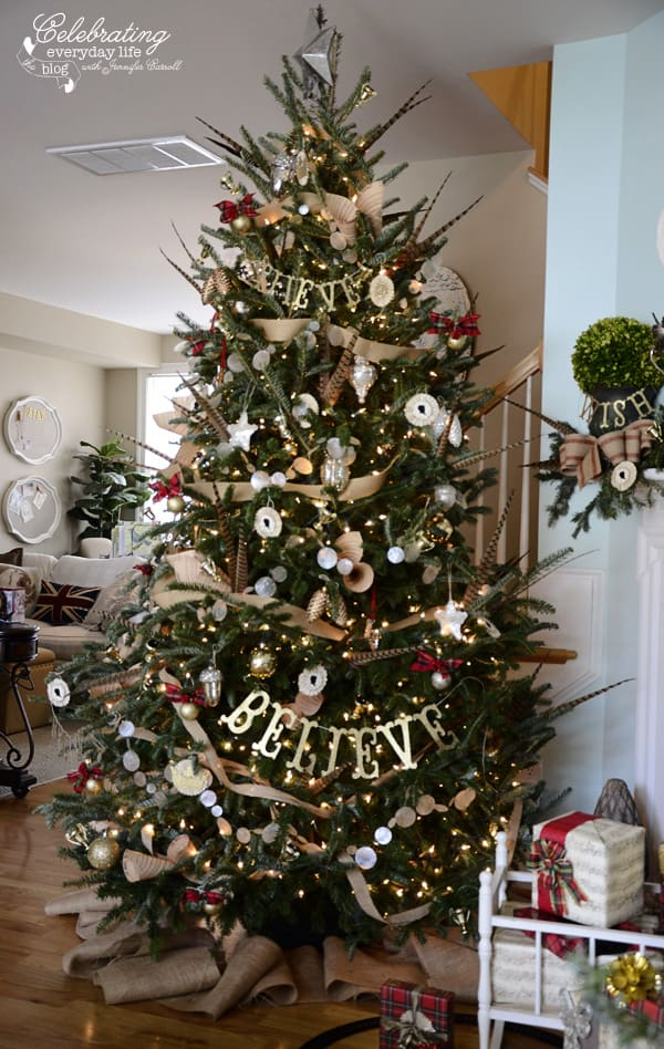 My hunt country aka inspired by ralph lauren christmas Christmas tree ribbon garland