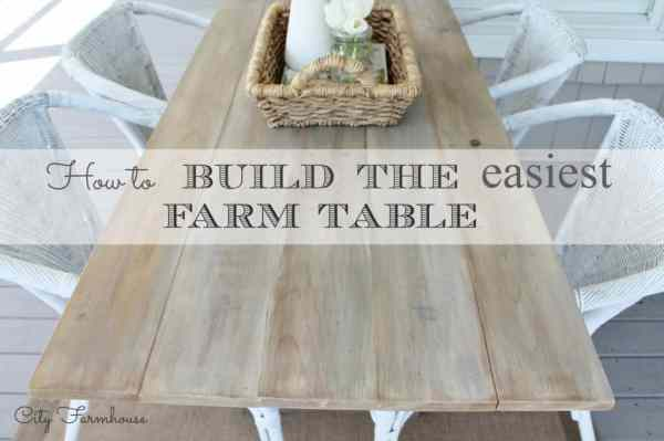 How to build the easiest farm table from the City Farmhouse blog