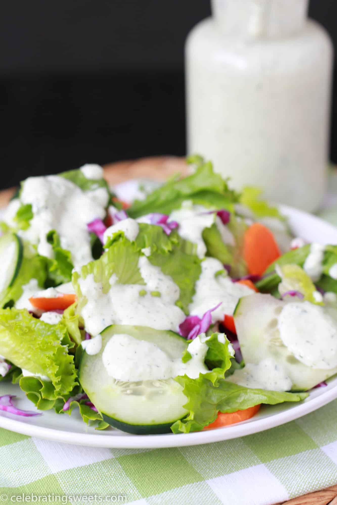 Creamy Herb & Cucumber Dressing | Celebrating Sweets