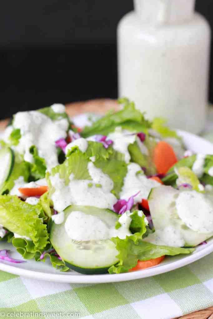Creamy Cucumber Herb Dressing - Celebrating Sweets