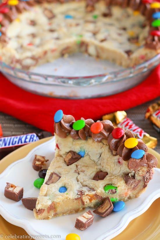 Candy Bar Cookie Pie 4