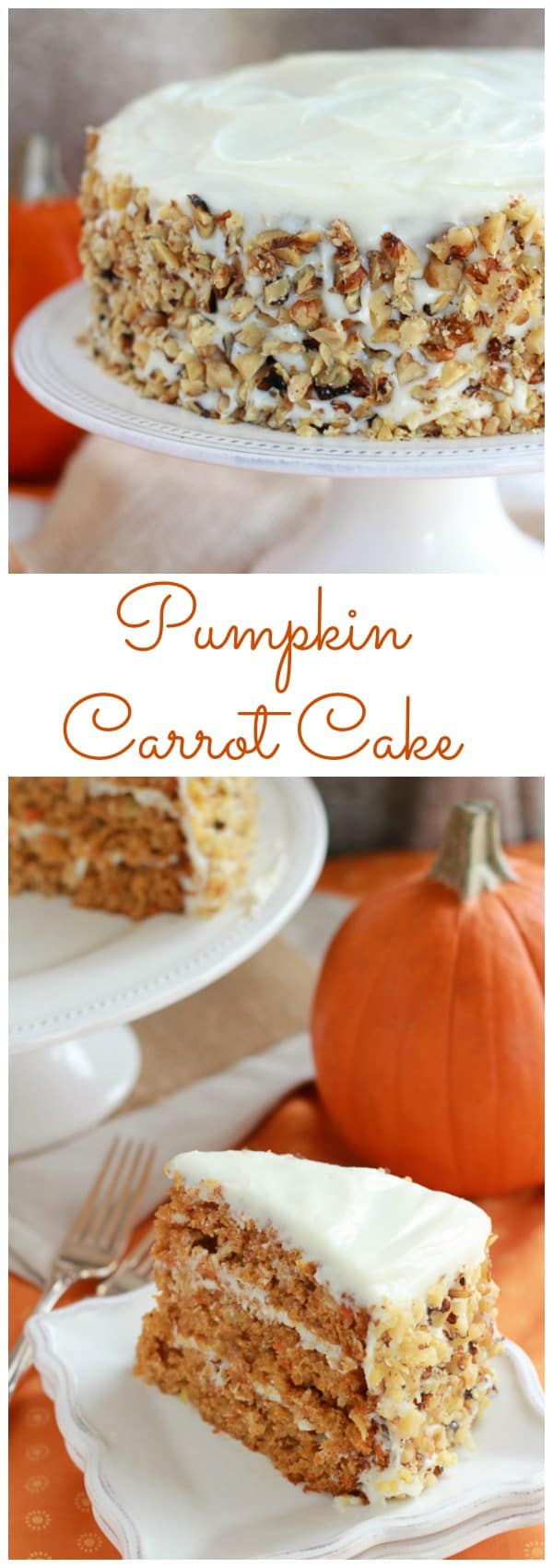 Carrot Cake with Cream Cheese Frosting - A moist layer cake filled ...