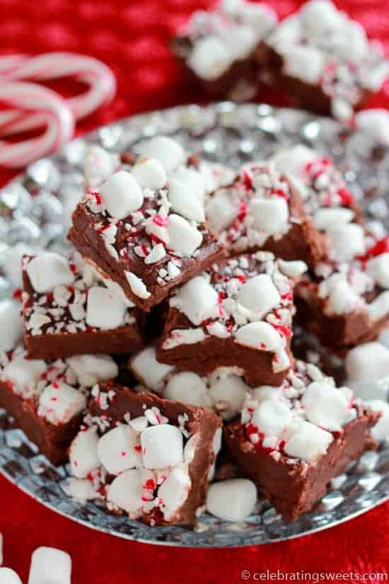 Peppermint Marshmallow Fudge