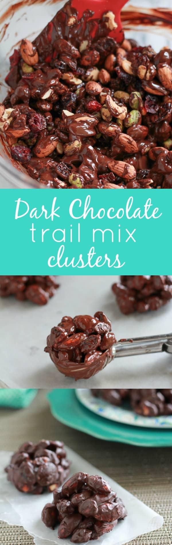 Dark Chocolate Trail Mix Clusters