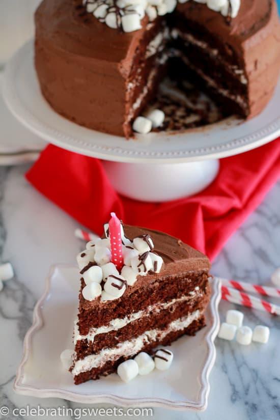Chocolate Marshmallow Layer Cake